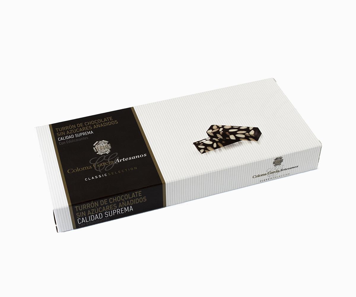 Turrón de Chocolate Artesanal sin azúcares añadidos