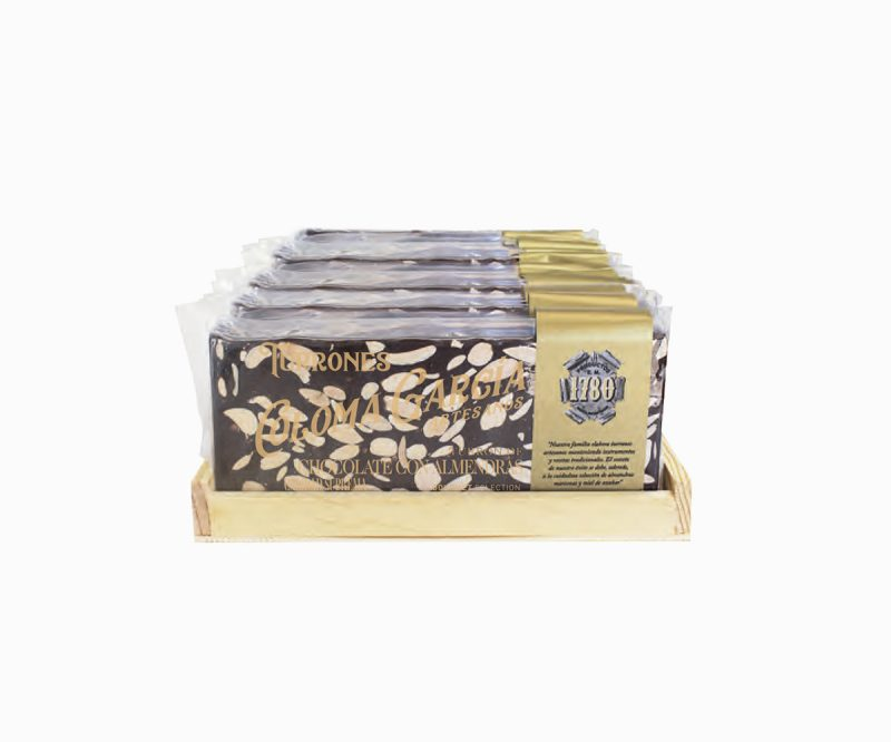 Turrón de Chocolate al Fondant Artesanal con Almendras