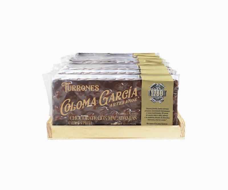 Turrón de Chocolate Artesanal con Leche y Macadamias