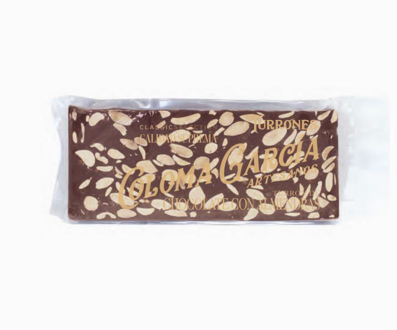 Turrón de Chocolate con Leche y Almendras Rilsán