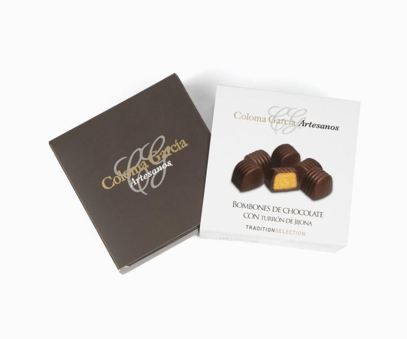 Bombón de Chocolate con Turrón de Jijona